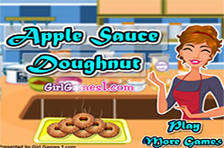 Apple sauce doughnut