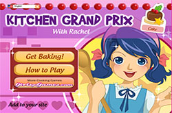 Kitchen grand prix with Rachel